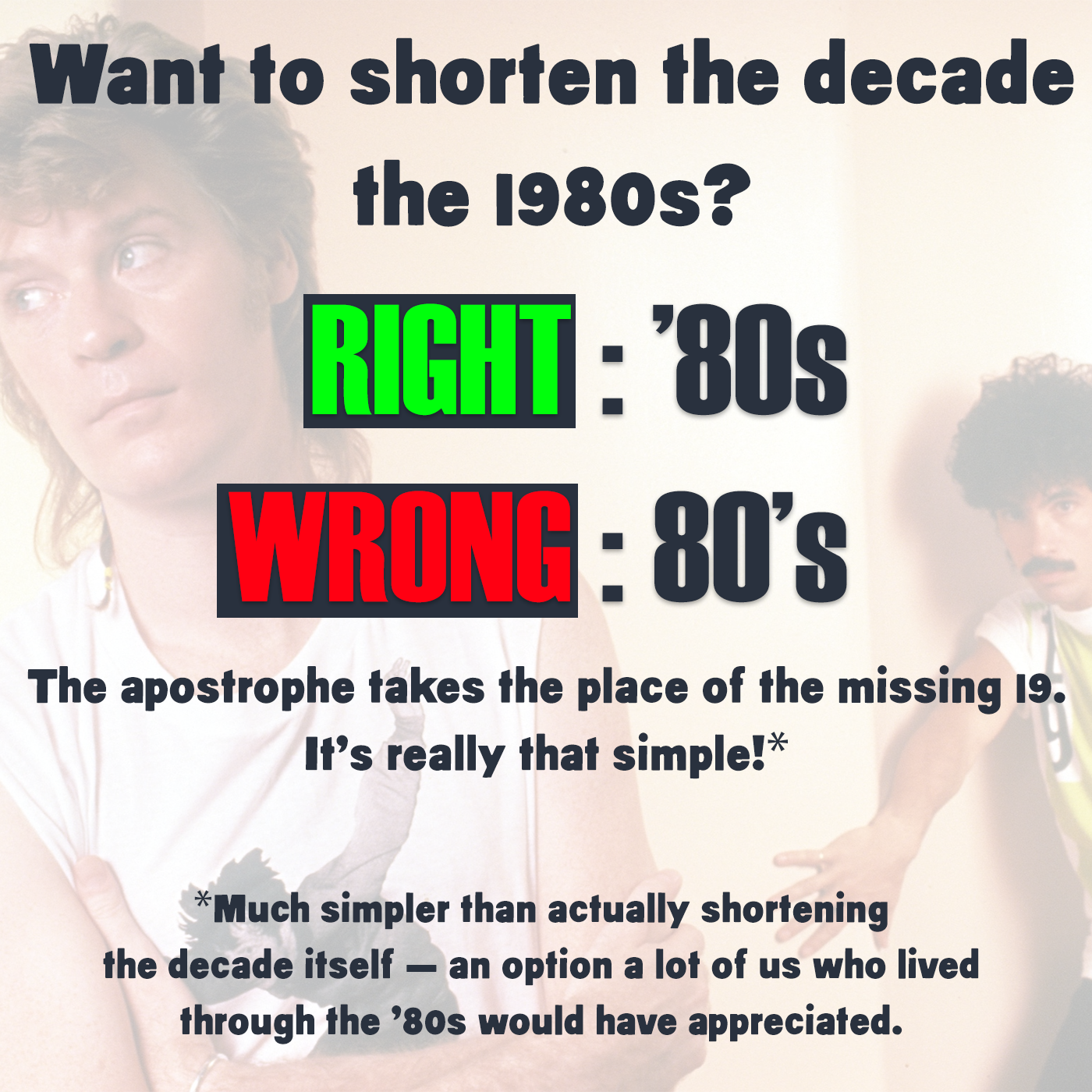 How Apostrophes in Decades Work